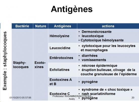 Antigènes bactériens 9