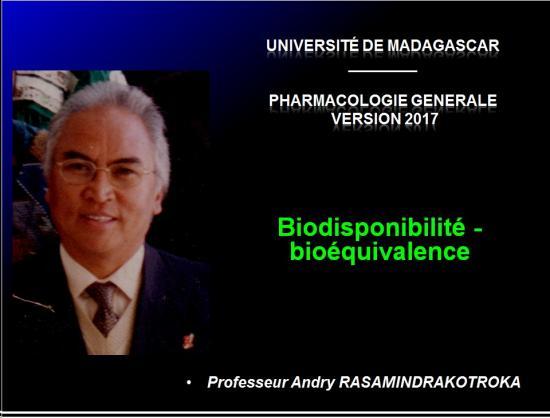 Biodisponiblité et bioéquivalence des médicaments 1
