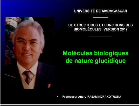 Biomolécules glucidiques 1