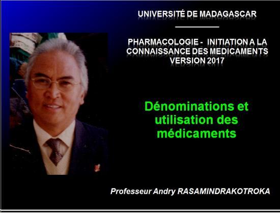 Dénominations et utilisation des médicaments 1