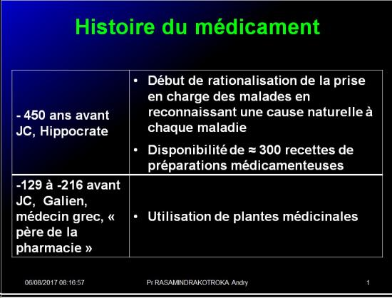 Histoire médicaments 2