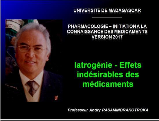 Iatrogénie - Effets indésirables des médicaments 1