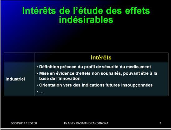 Iatrogénie - Effets indésirables des médicaments 10