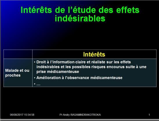 Iatrogénie - Effets indésirables des médicaments 7
