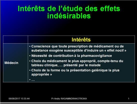Iatrogénie - Effets indésirables des médicaments 8