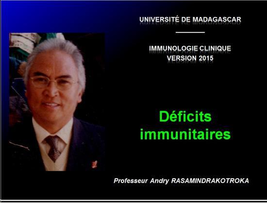 Images sélectionnées déficits immunitaires1