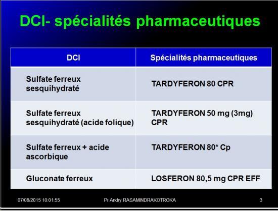 Images sélectionnées médicaments antianémiques3