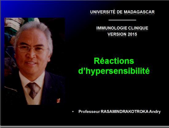 Images sélectionnées réactions d'hypersensibilité1