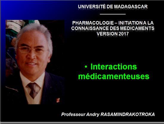 Interactions médicamenteuses 1