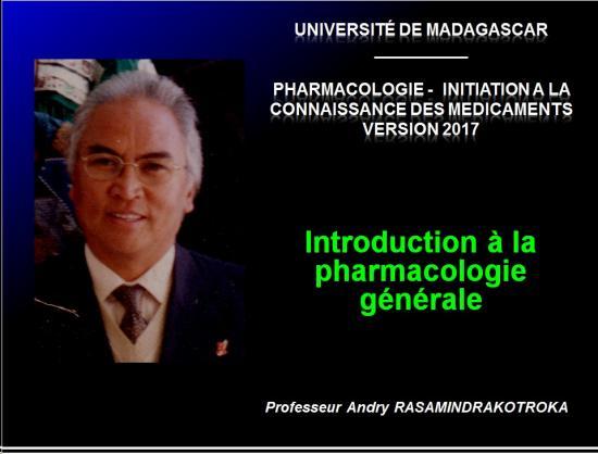 Introduction à la pharmacologie 1