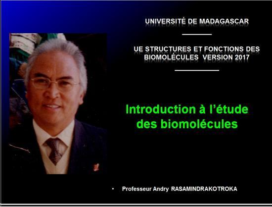Introduction structures et fonctions des biomolécules 1