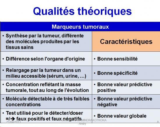 Marqueurs tumoraux 1