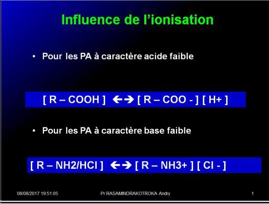 Modalités de passage des médicaments à travers membrane biologique et épithélium 8