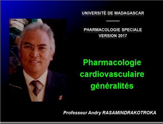Pharmacologie cardio-vasculaire - généralités  1